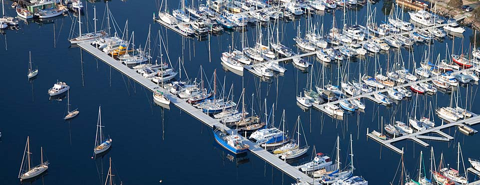 Aerial view of Oyster Cove Marina November 2010